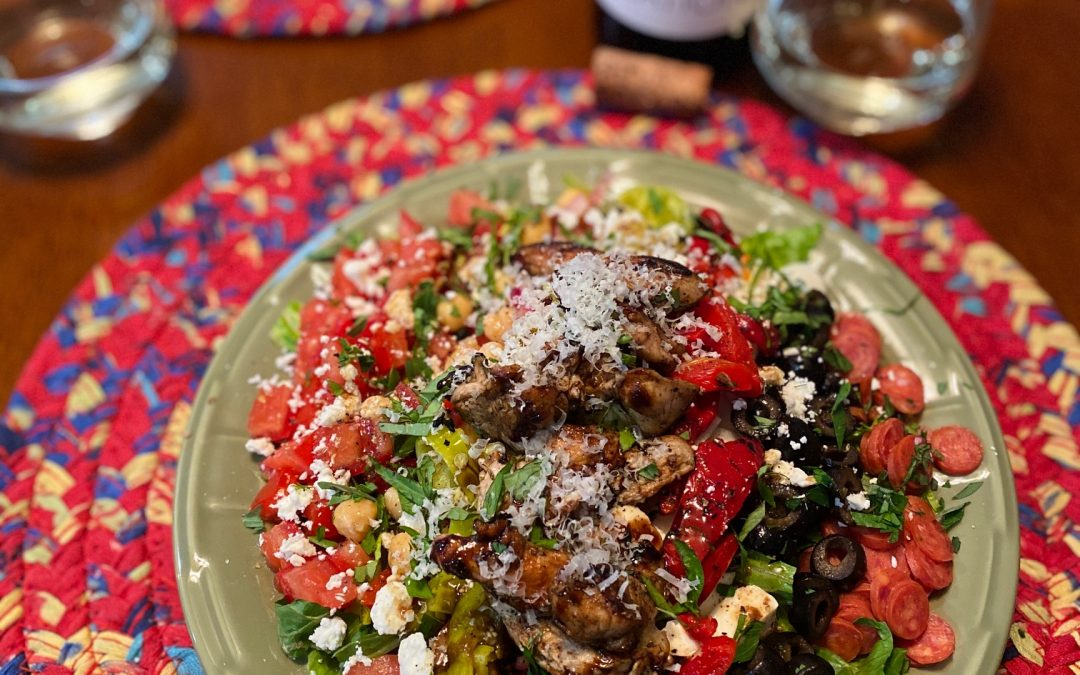 Grilled Chicken Antipasto Salad
